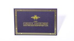 gold foil card / matt laminate