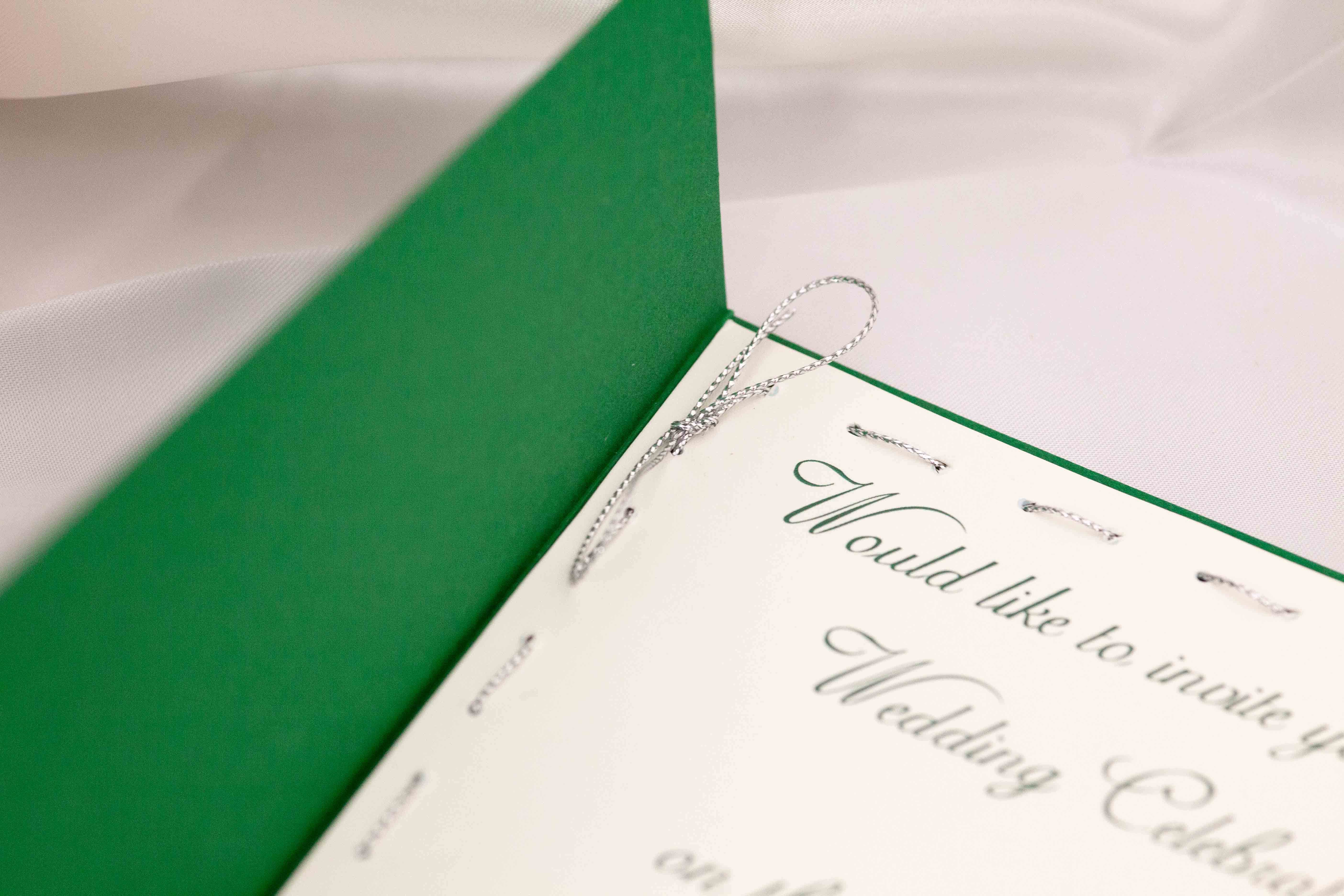 Satin Green and Silver Foil Set