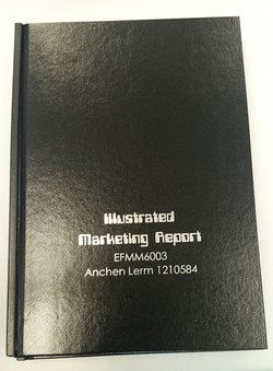 Black hard cover with silver foil