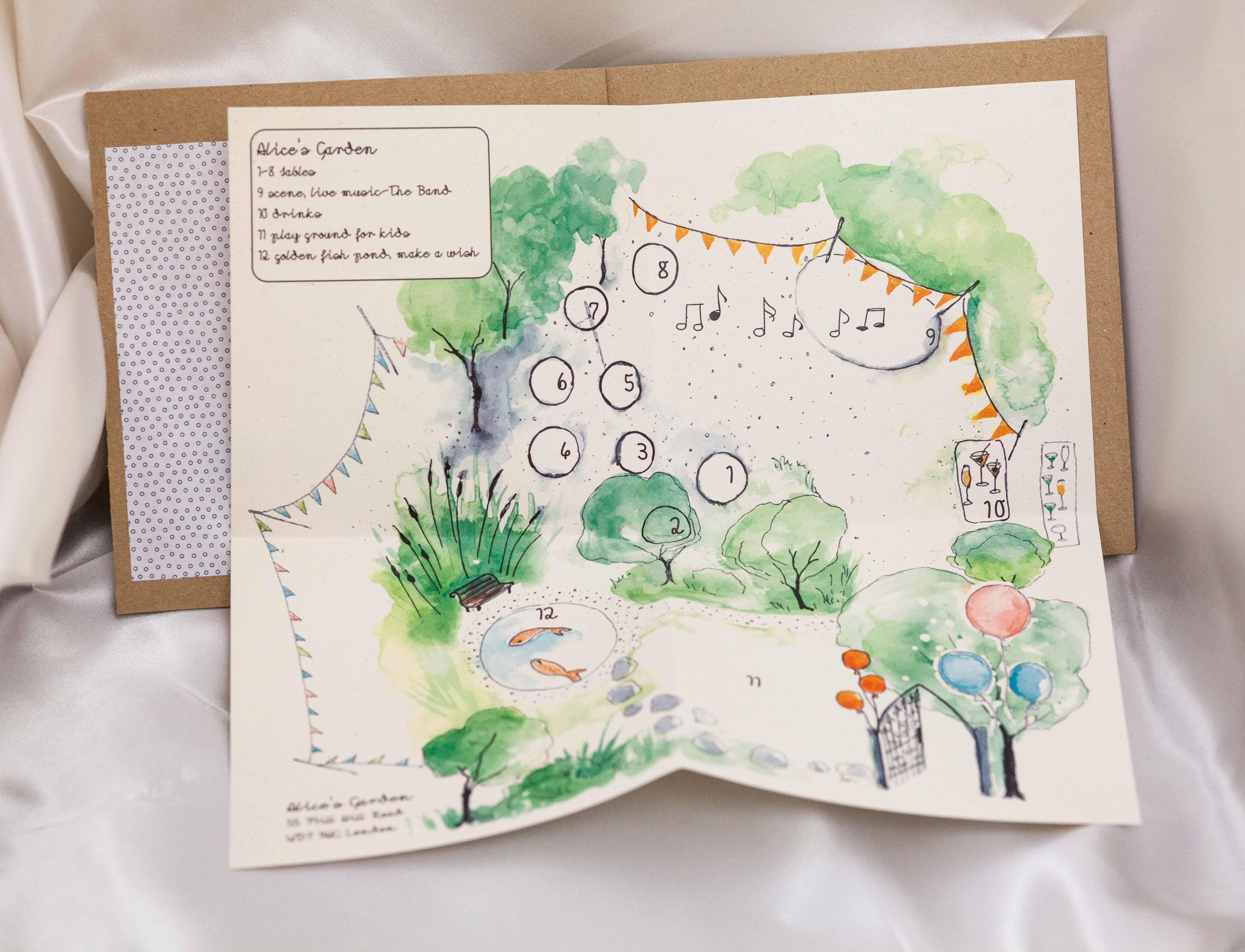 Designed and printed invitation