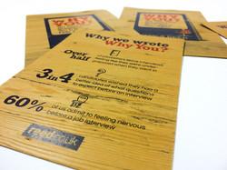 Flyer Woodside garden pine paper