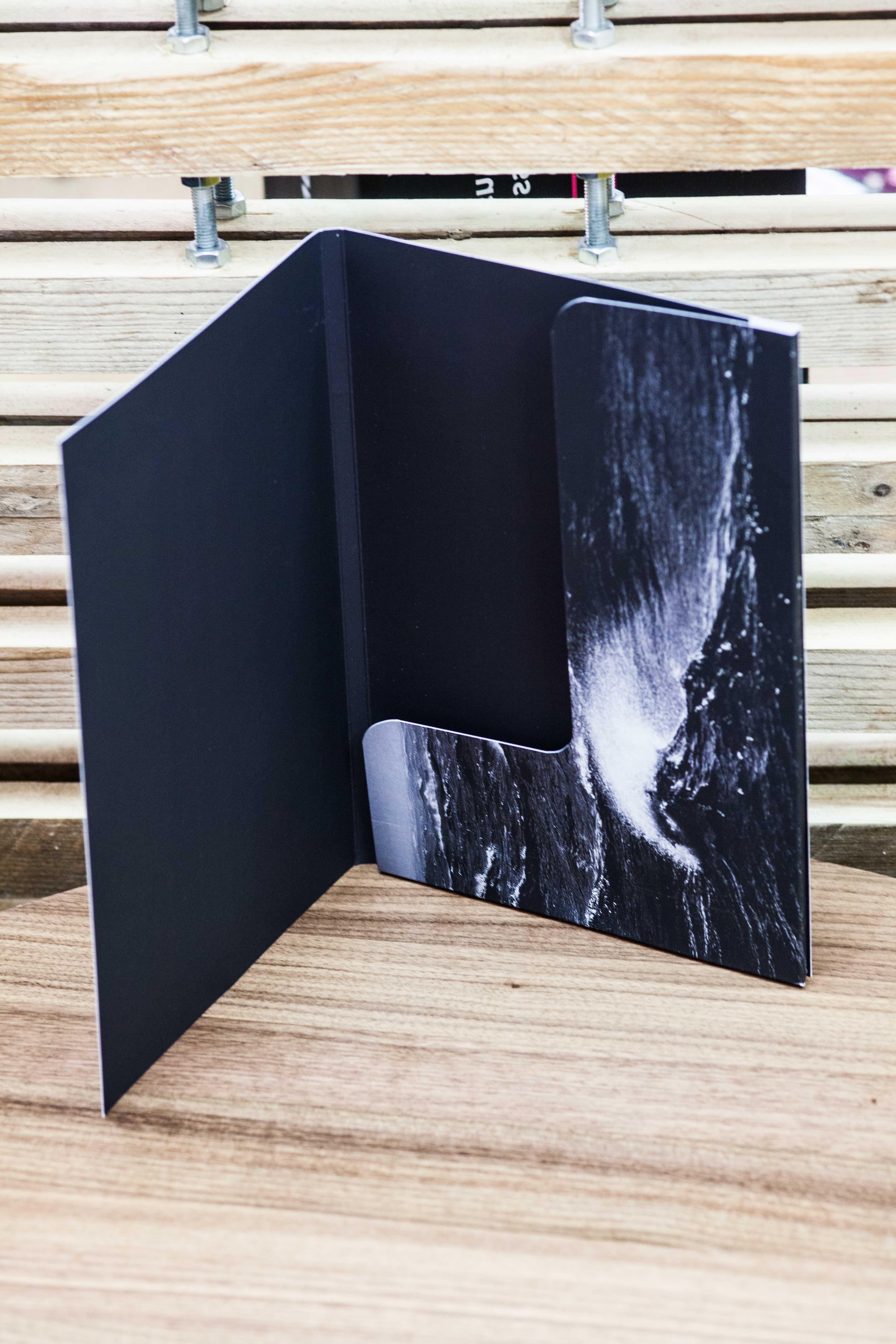 Bespoke folder velvet laminated