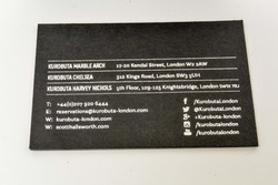 Silver foil on business card
