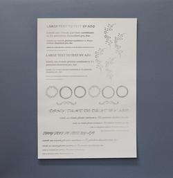 A3 silver foil poster