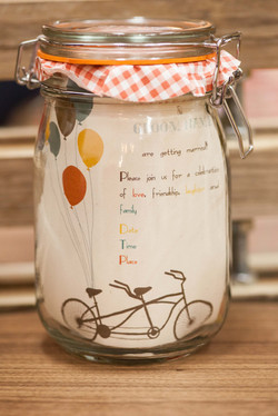 Playful Cycle Wedding invite