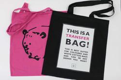 Black and magenta bags