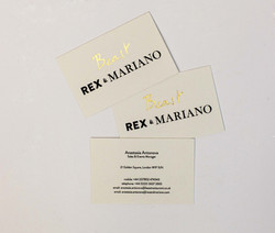 Business cards on textured paper