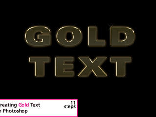Creating Gold Text in Photoshop