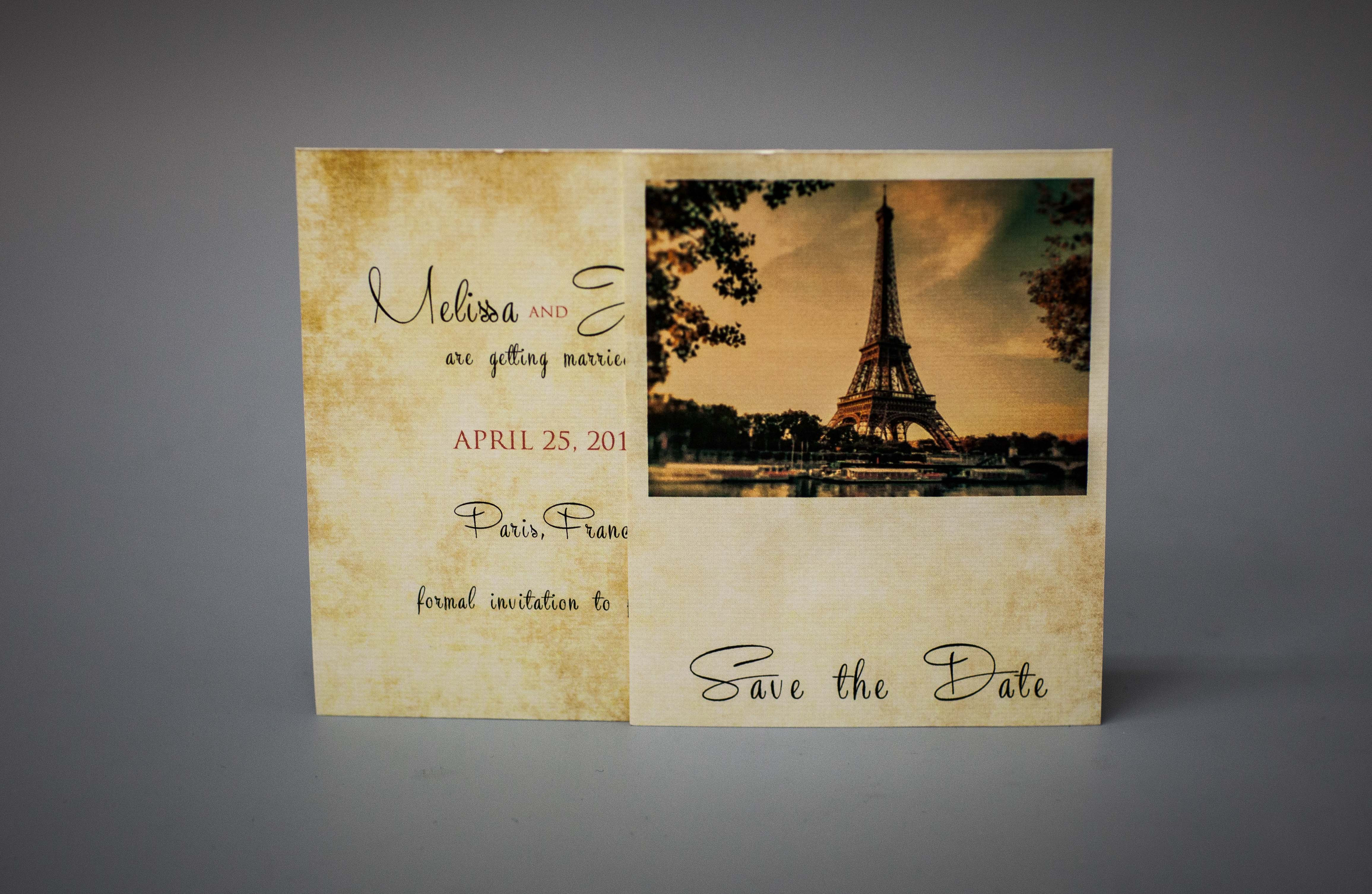 Parisian wedding Save the date