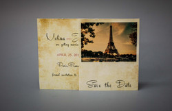 Parisian wedding Save the date