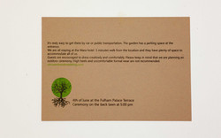card on brown paper