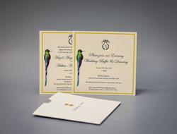 Custom design and printed invitation