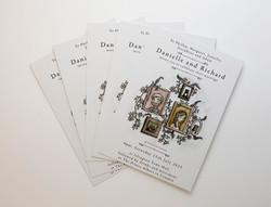 Double sided postcards on matt