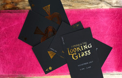 Gold foil with velvet laminate