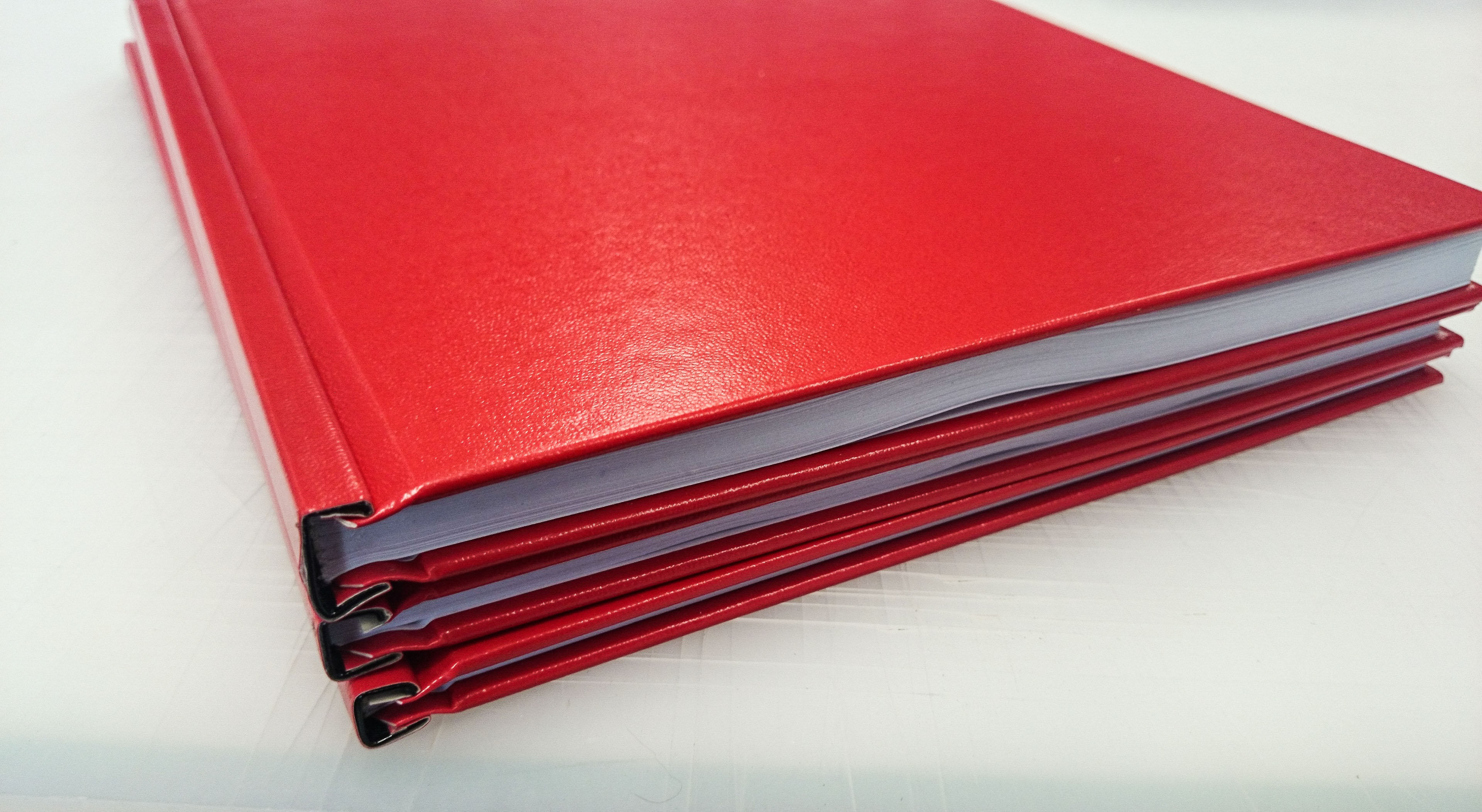 red hard cover