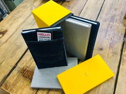 Custom bound books with box