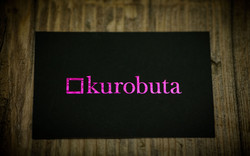 magenta digital foil business cards