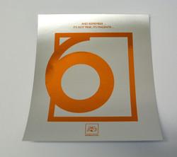 Orange and silver foil
