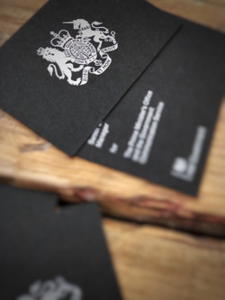 white ink printing on business cards