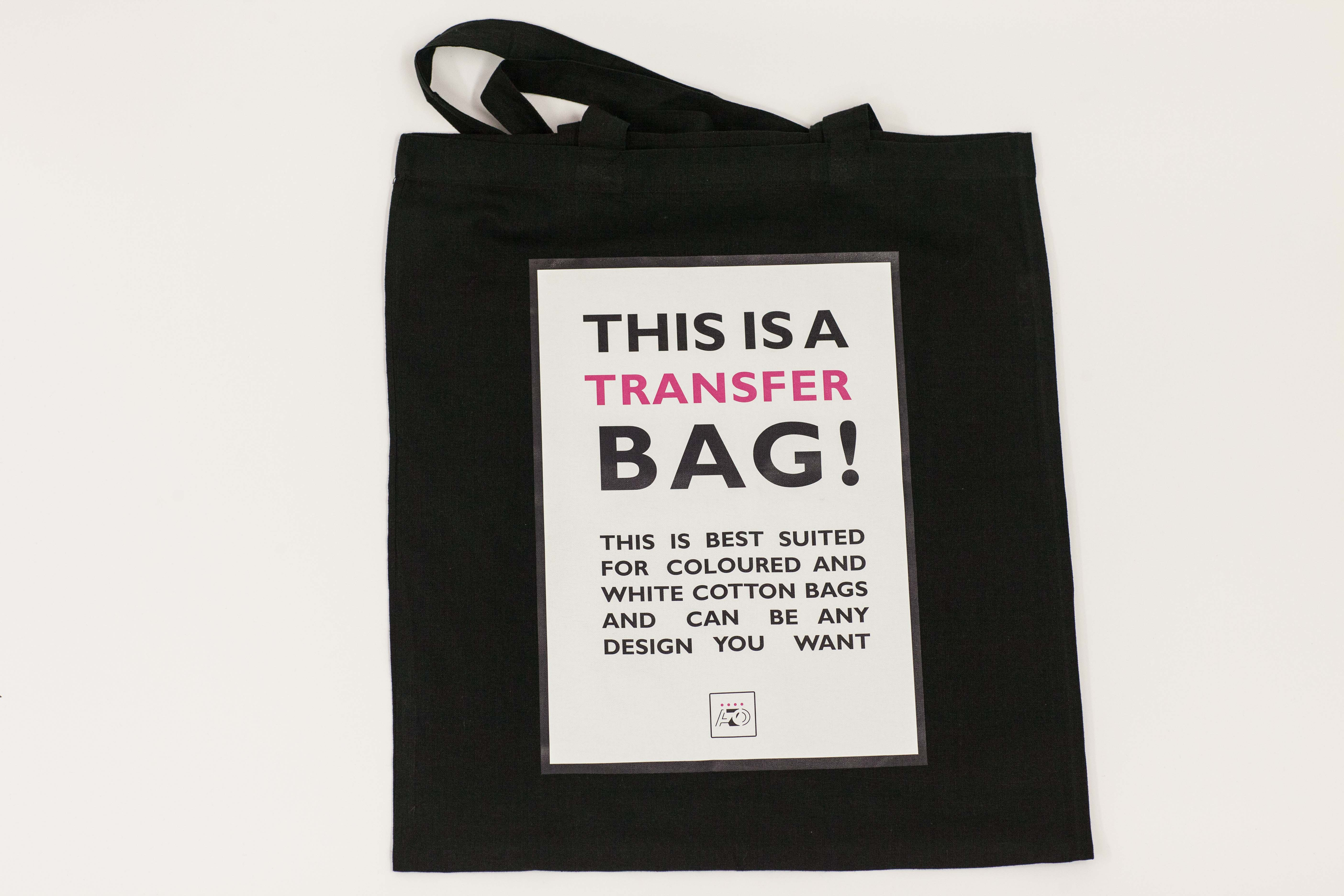 Black bags with a transfer process