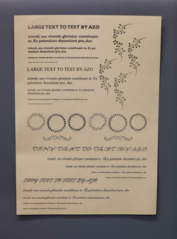 A3 silver foil poster on cream paper