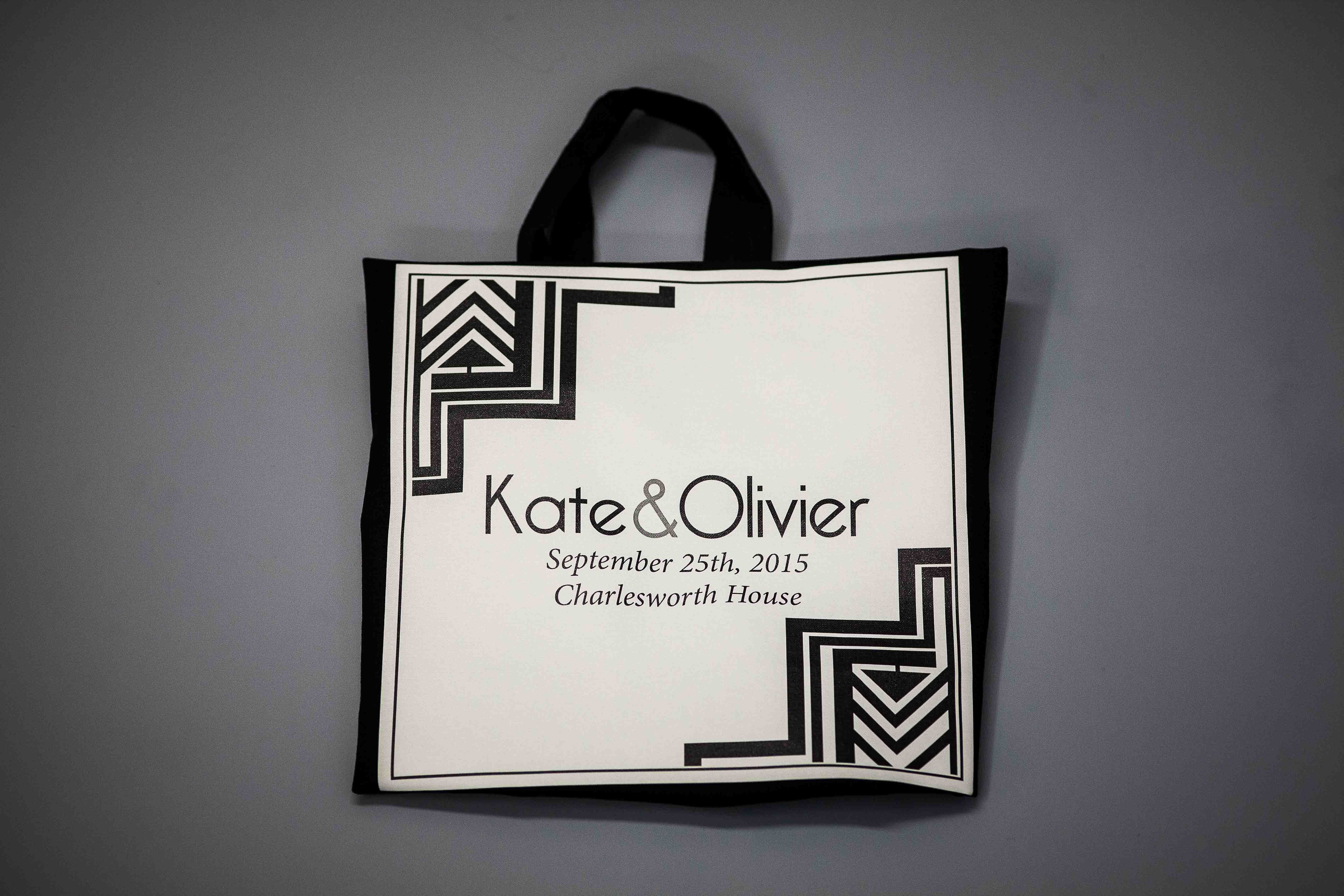 Kate and Oliver canvas bag