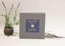 Lavander custom case bound book