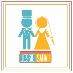 Minimalist Graphic Based Wedding Set