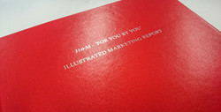 Red hard cover with silver foil