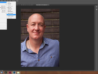 Skin retouching with frequency separation