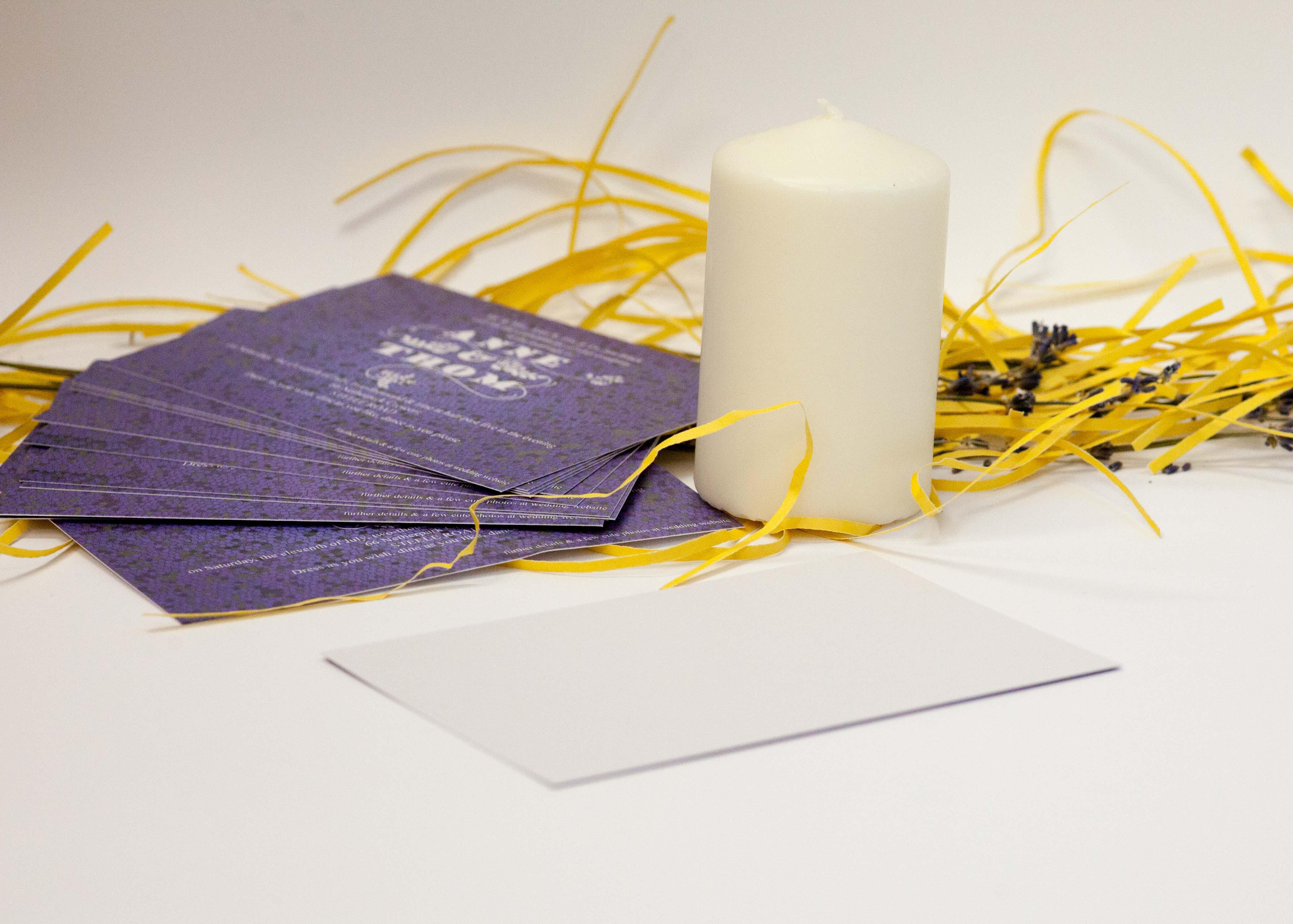 Purple Shine Wedding Invite