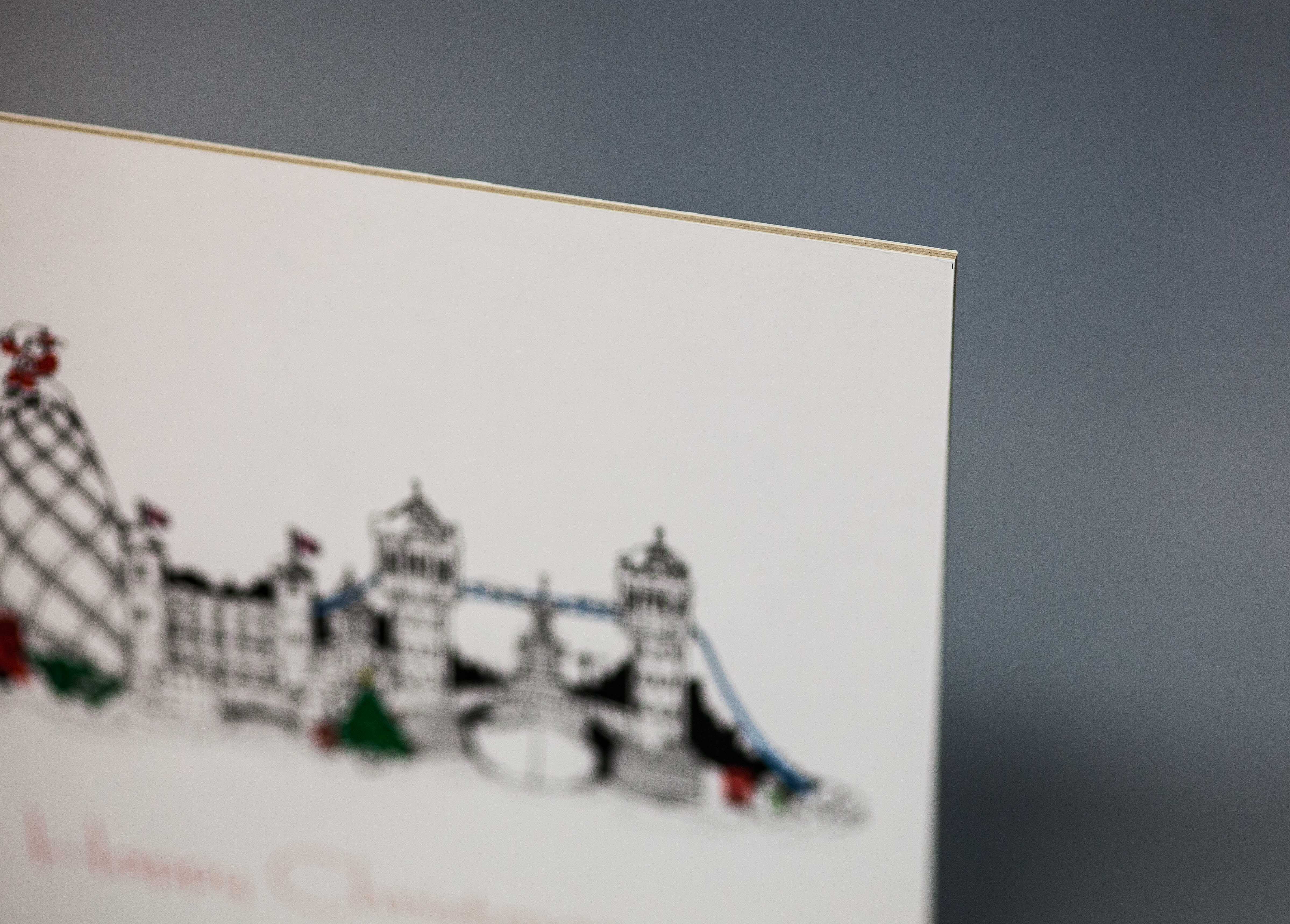 Print mounted on 2mm card