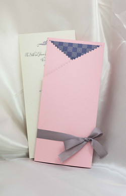 Pink Lavender Wedding Invitation Set