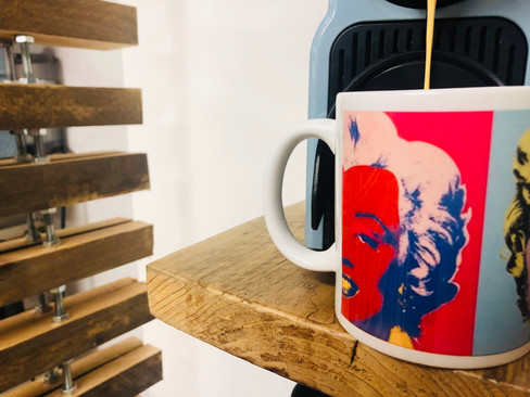 Colourful printed mug