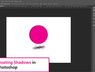 Simple Floating Shadows in Photoshop
