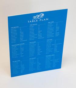 Table plan on 5mm foam board