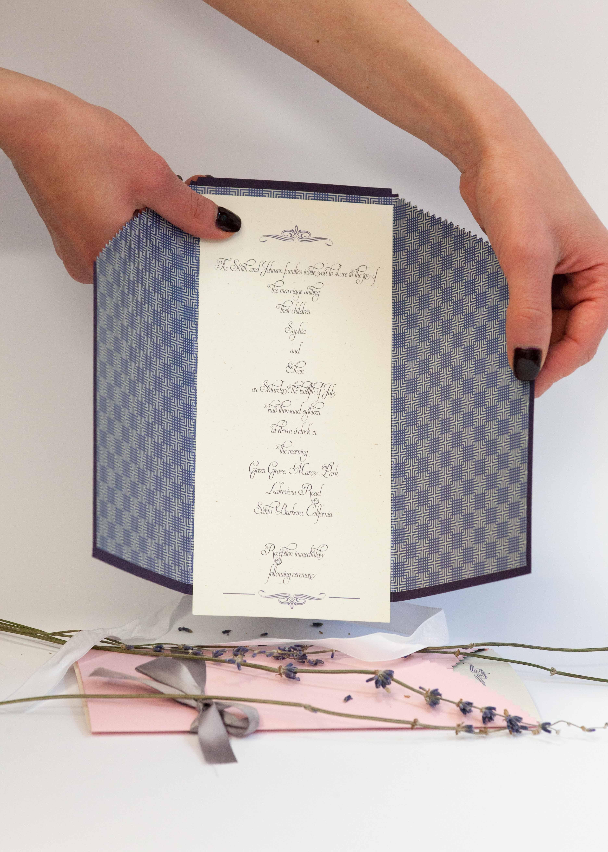 Lavander Wedding invitation