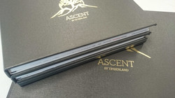 Custom case bound books with gold