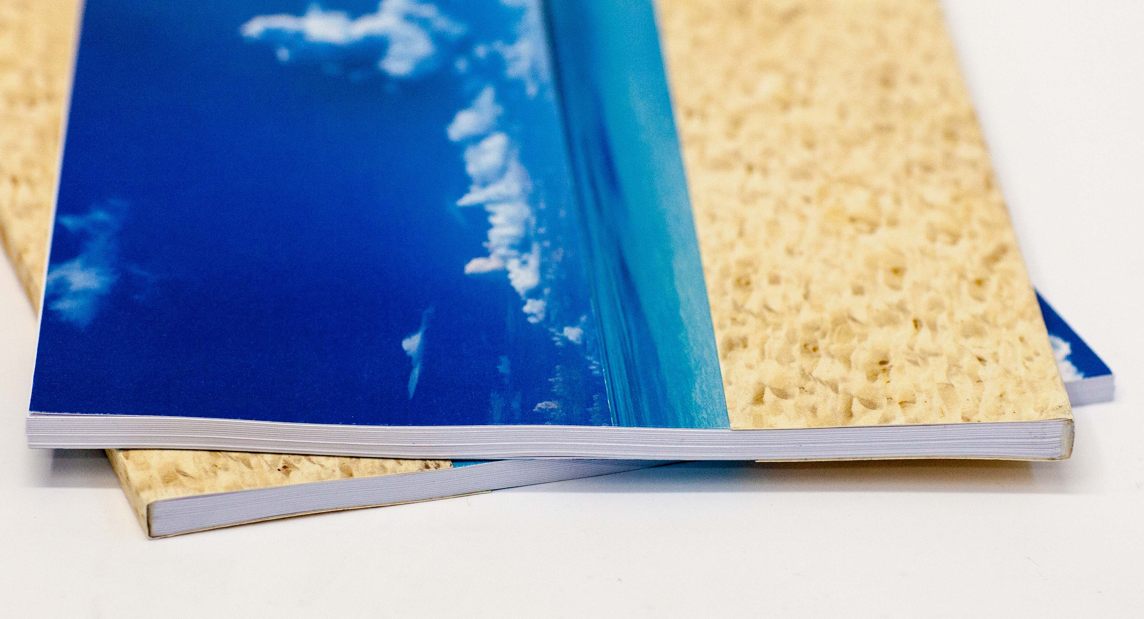 Custom printed tape bound book