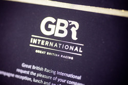 GBR Invitation with gold foil