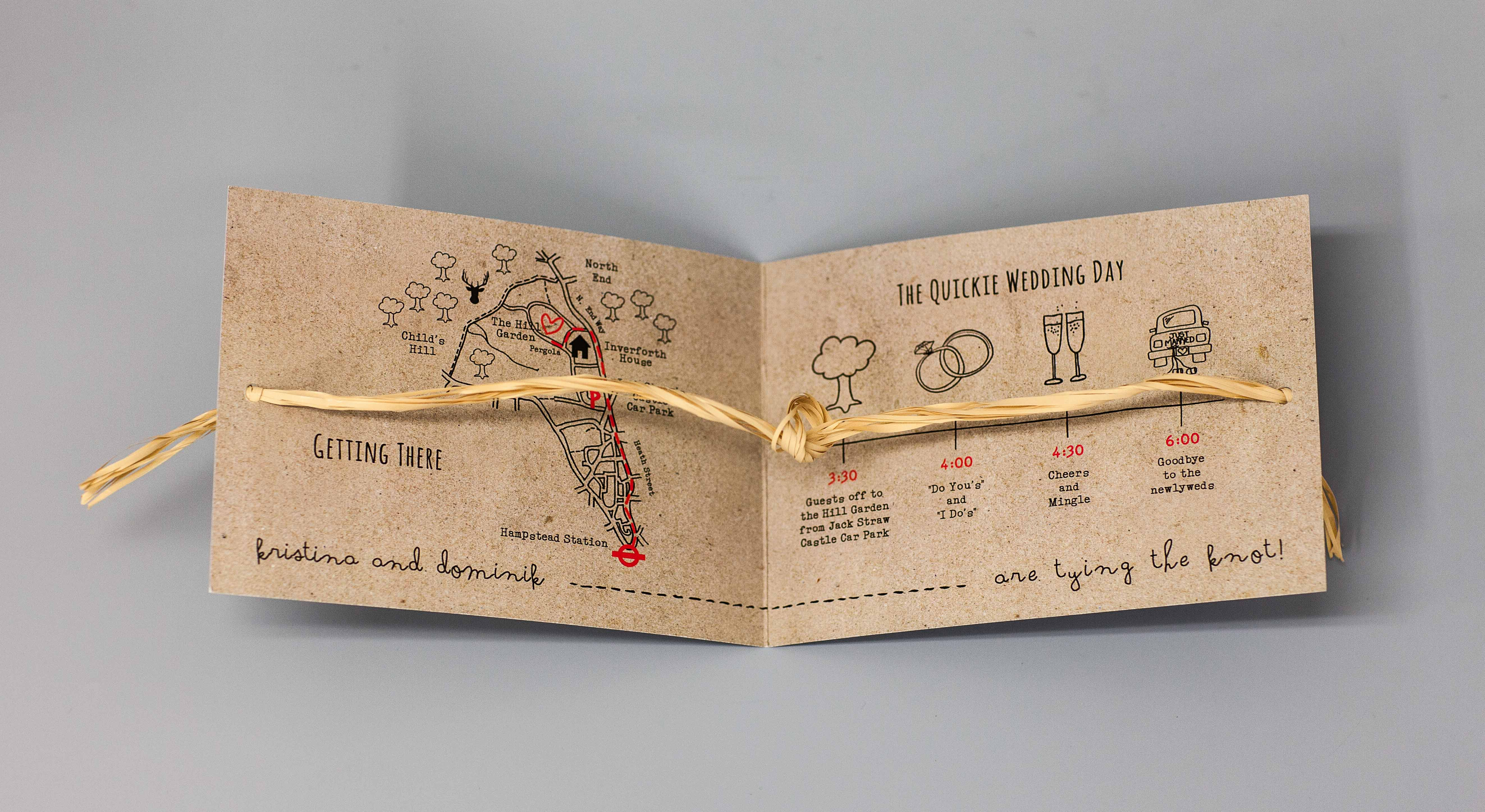"""Tying the knot"" invitation"