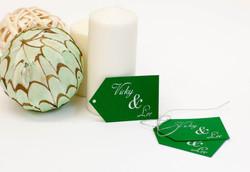 Wedding favor tag