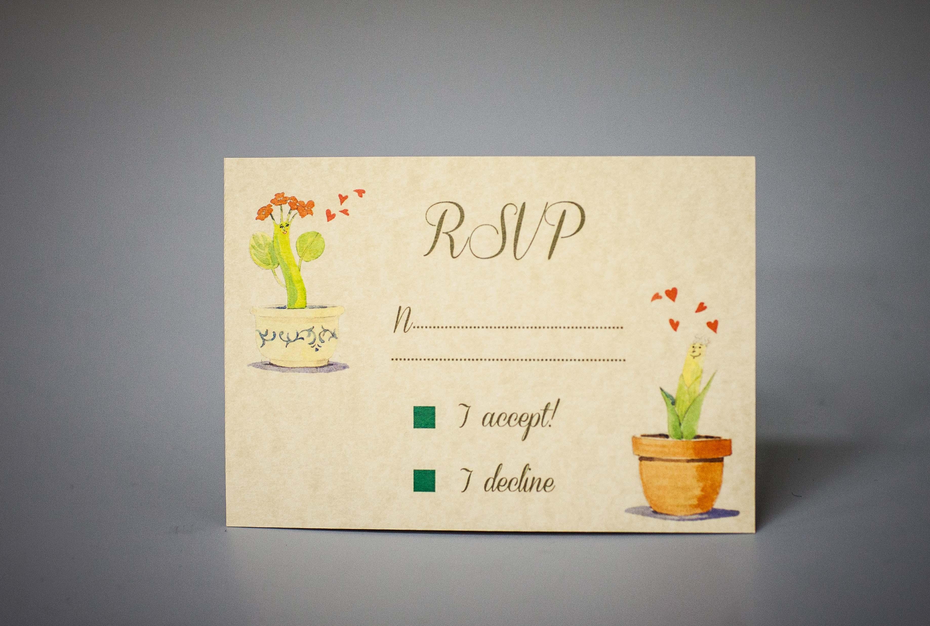 Hand drawn invitation set