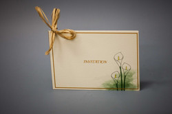 A6 invitation with tracing paper