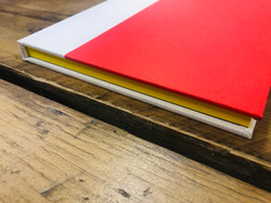 Hard cover bound book/custom tape