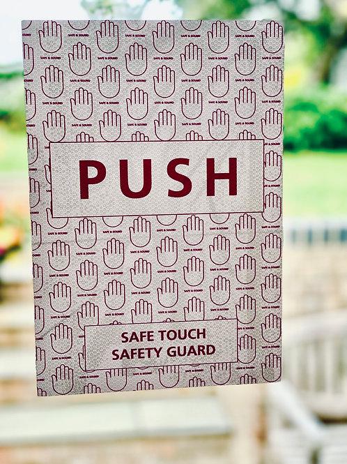 Door push & Pull pack - antibacterial adhesive vinyl