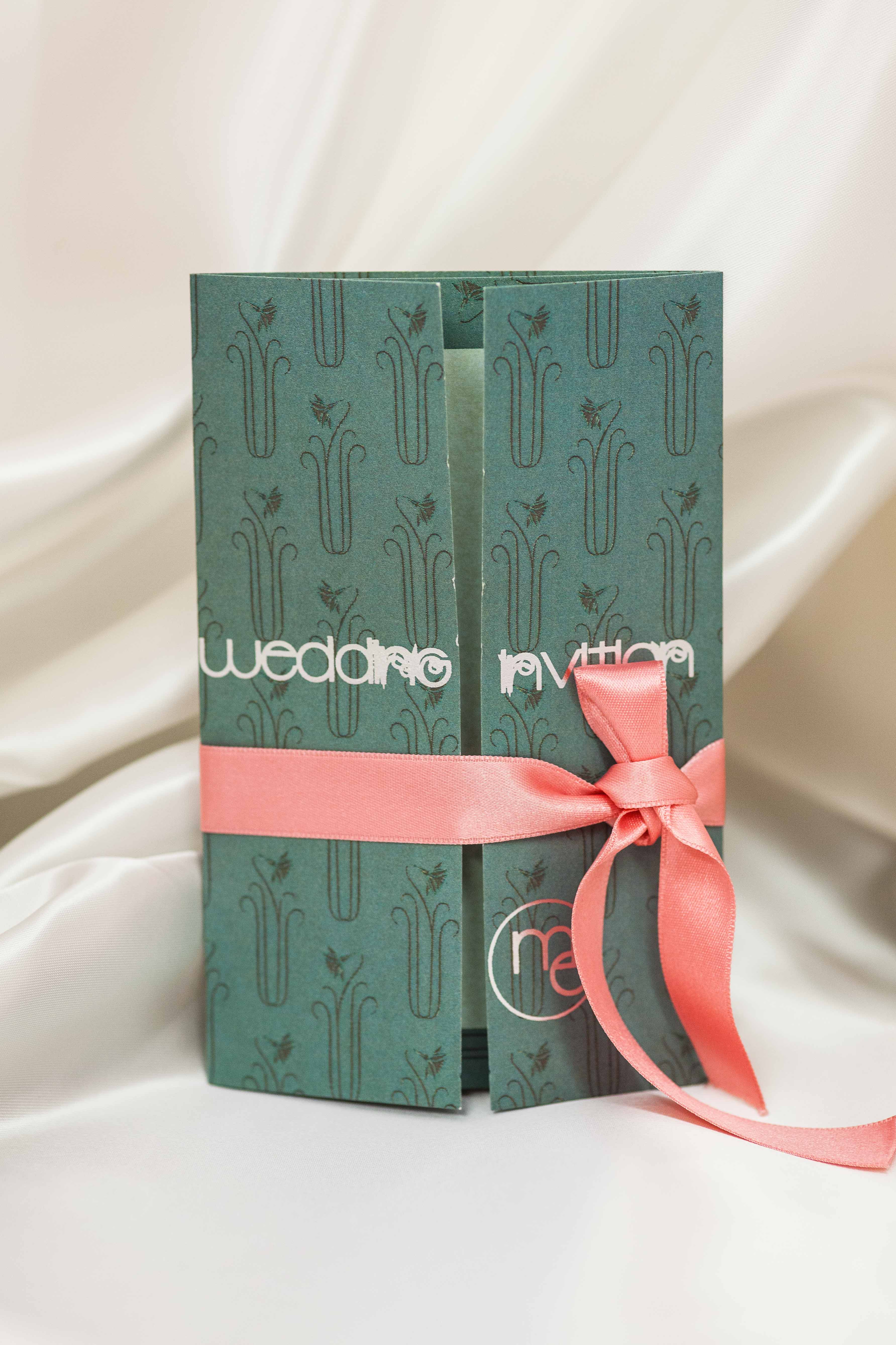 Royal Green and Silver Foil
