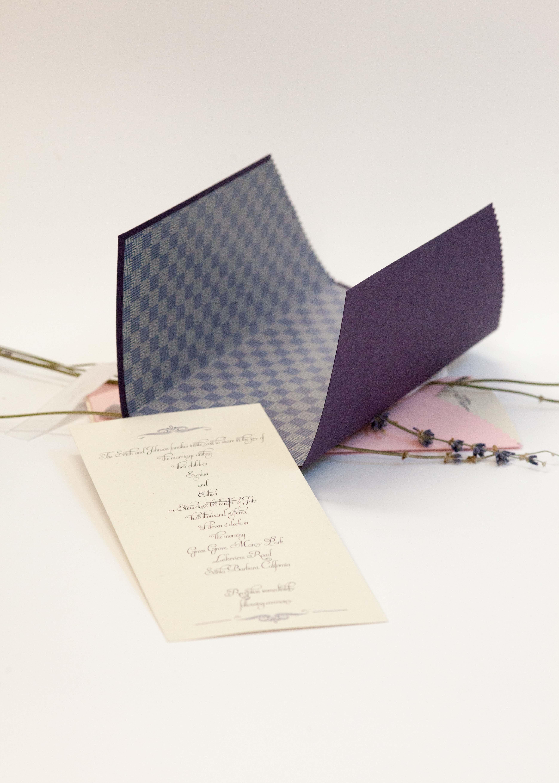 Lavender Wedding Invitation Set