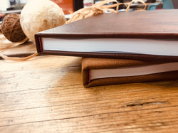 Leather & Denim Hard cover books an