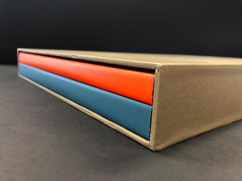 Case bound books and slip case
